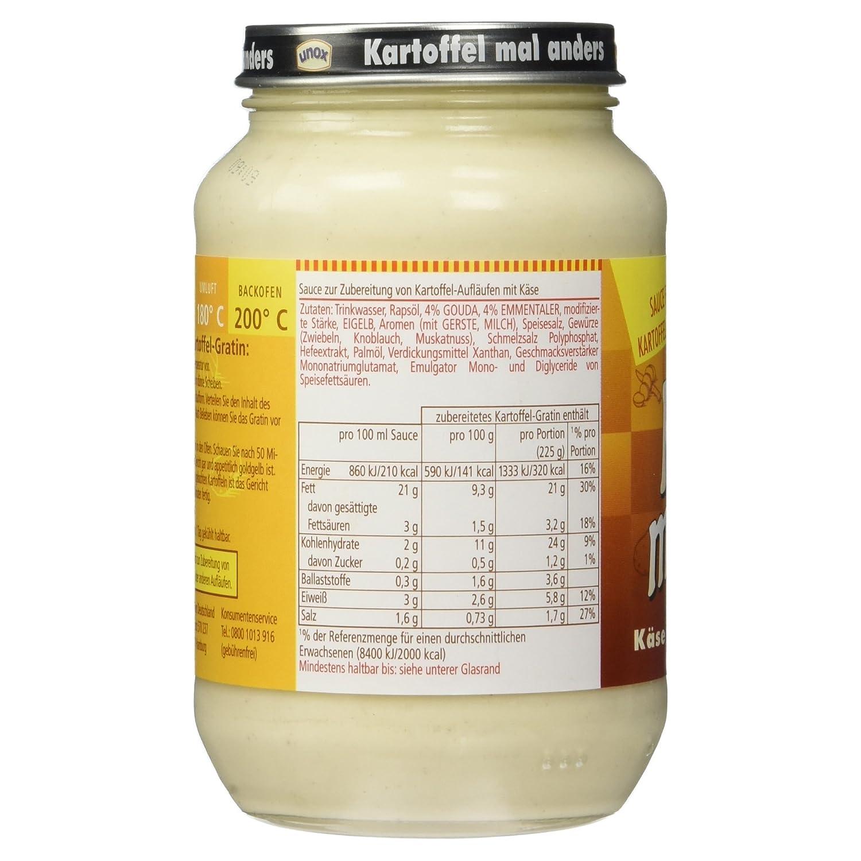 Kartoffel Kcal unox kartoffel mal anders käse 400 ml amazon de lebensmittel