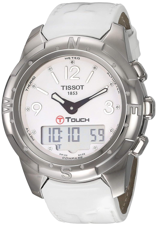 9f64dae6c Amazon.com: Tissot Women's TIST0472204601600 T-Touch Analog Display Swiss  Quartz White Watch: Tissot: Watches