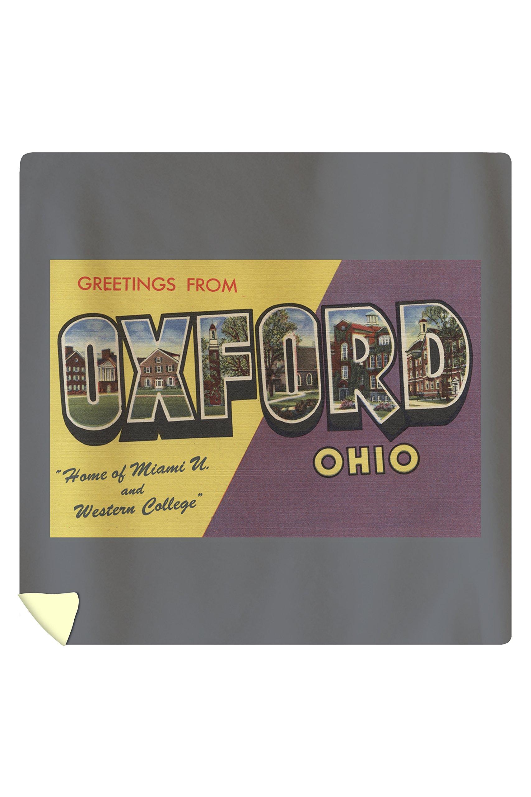 Oxford, Ohio - Miami U and Western College - Vintage Halftone (88x88 Queen Microfiber Duvet Cover)