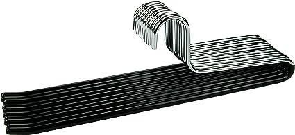 Cortec 10 Perchas De Metal Para Pantalones Con Revestimiento De Goma Antideslizante En Color Negro Amazon Es Hogar