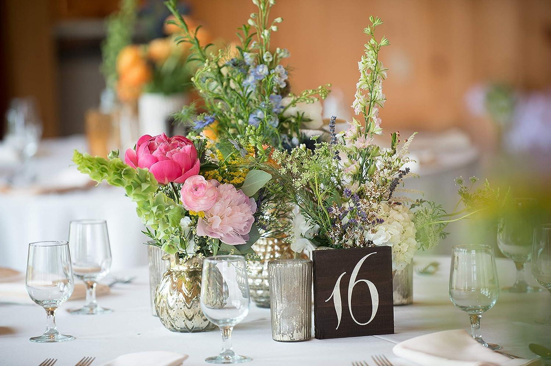 Rustic Wedding Table Numbers Wooden Wedding Table Numbers Your Choice of Stain Color Wedding Table Numbers