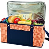 Picnic at Ascot Diamond Collection Collapsible Trunk Cooler, X-Large, Orange/Navy
