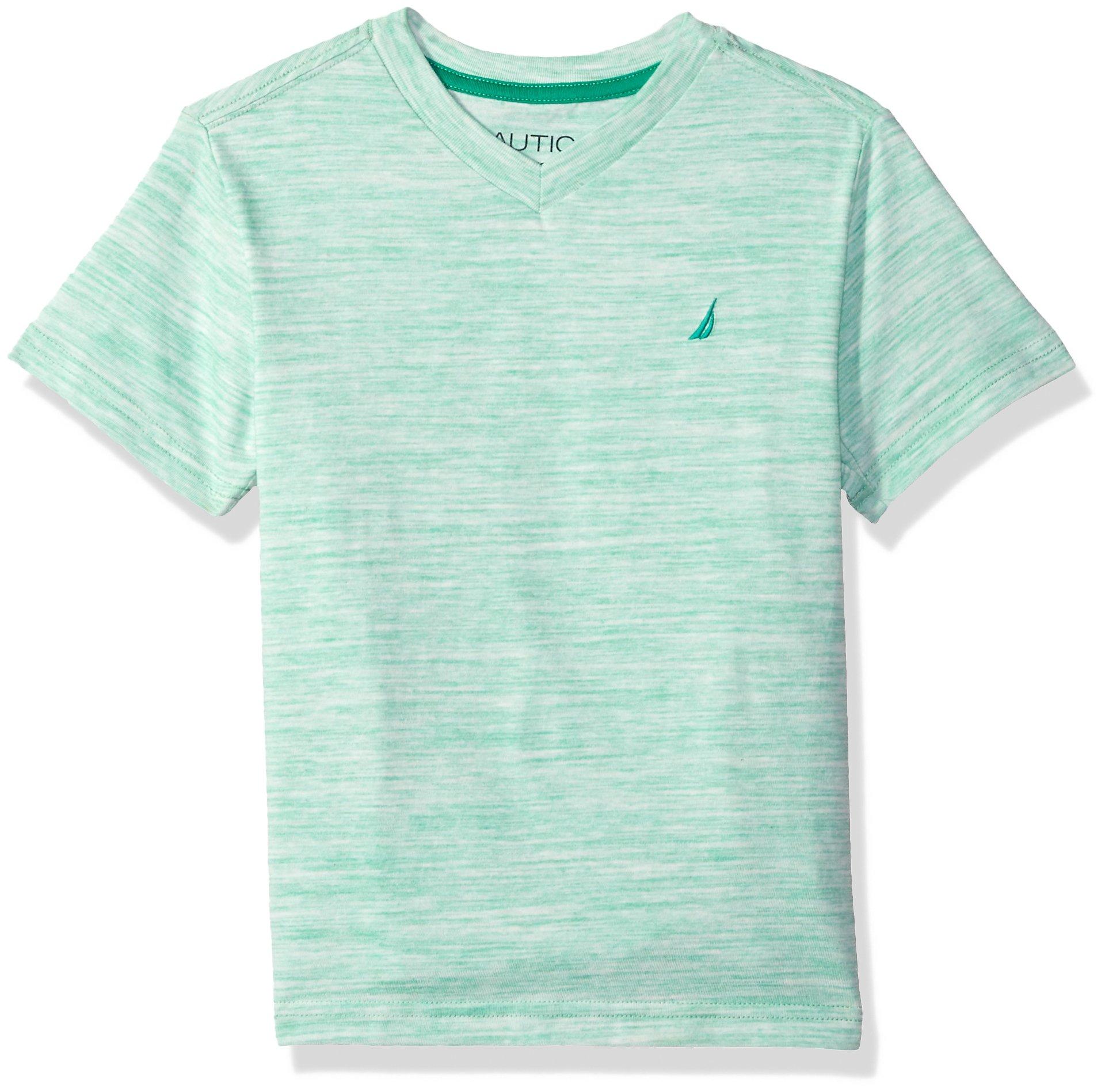 542de680 Galleon - Nautica Boys' Little Short Sleeve Solid V-Neck T-Shirt, Channel  Spearmint, 5/6
