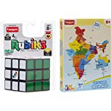 Funskool-Rubik's Cube + Play & Learn World Map Puzzles