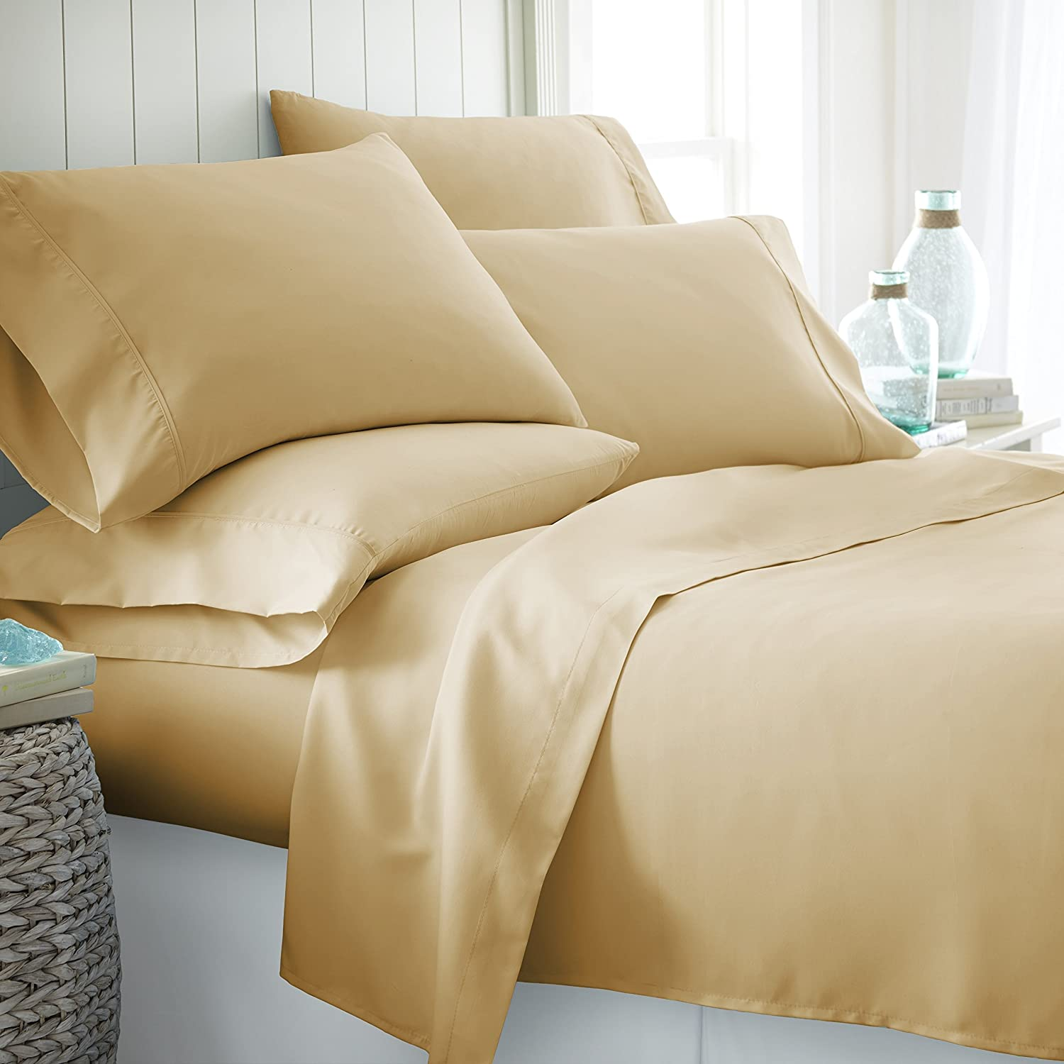 Hypoallergenic Sheet and Pillowcase Set (Full, Camel