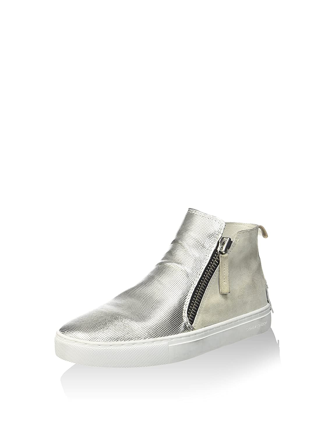 CRIME London Damen Hightop Turnschuhe Beige 36 EU