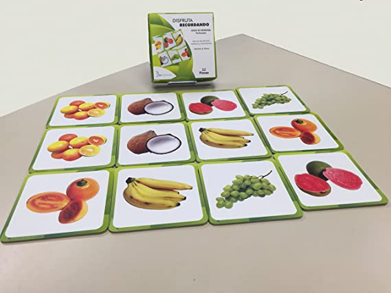Amazon.com : Memory Game: 12 Pieces (4 X 4 Inches Ea) for ...