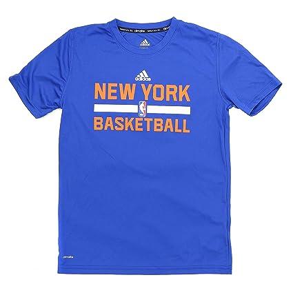 adidas New York Knicks S/S Climalite práctica NBA Fan ...
