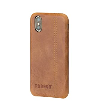 coque iphone xs cuir marron