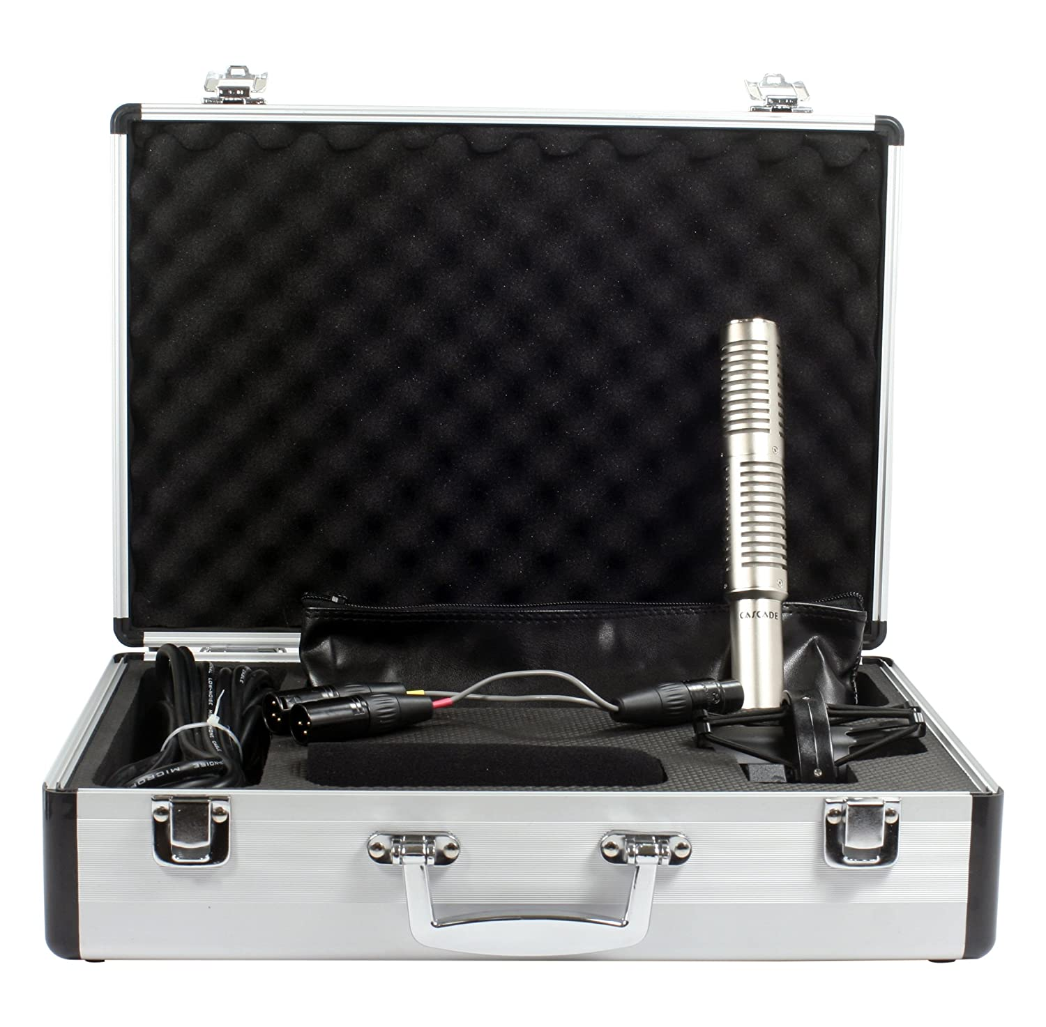 Stereo Mic Stereo Short Ribbon Lundahl Cascade Microphones X-15 Silver Body//Anodized Silver Grill