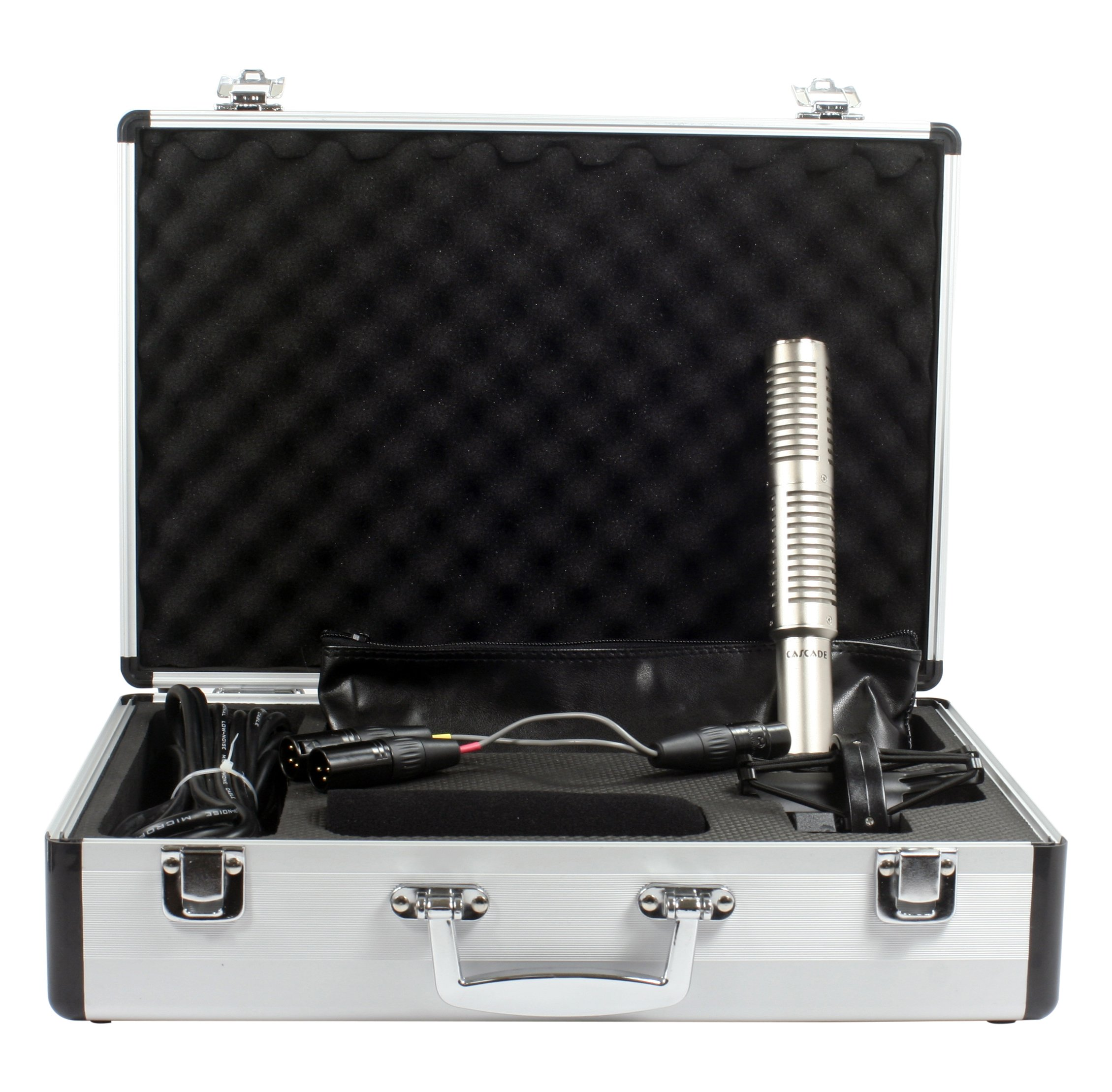 Cascade Microphones X-15 (Lundahl) Stereo Mic Stereo Short Ribbon - Silver Body/Anodized Silver Grill