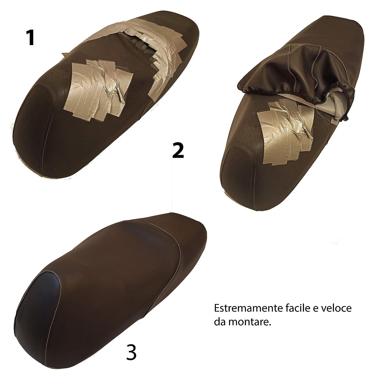 Coprisella specifico su misura made in Italy scooter Honda SH 125 150 dal 2005 al 2008 protegge rinnova e ripara la sella originale Resistente agenti esterni Cuciture rifrangenti alta visibilit/à