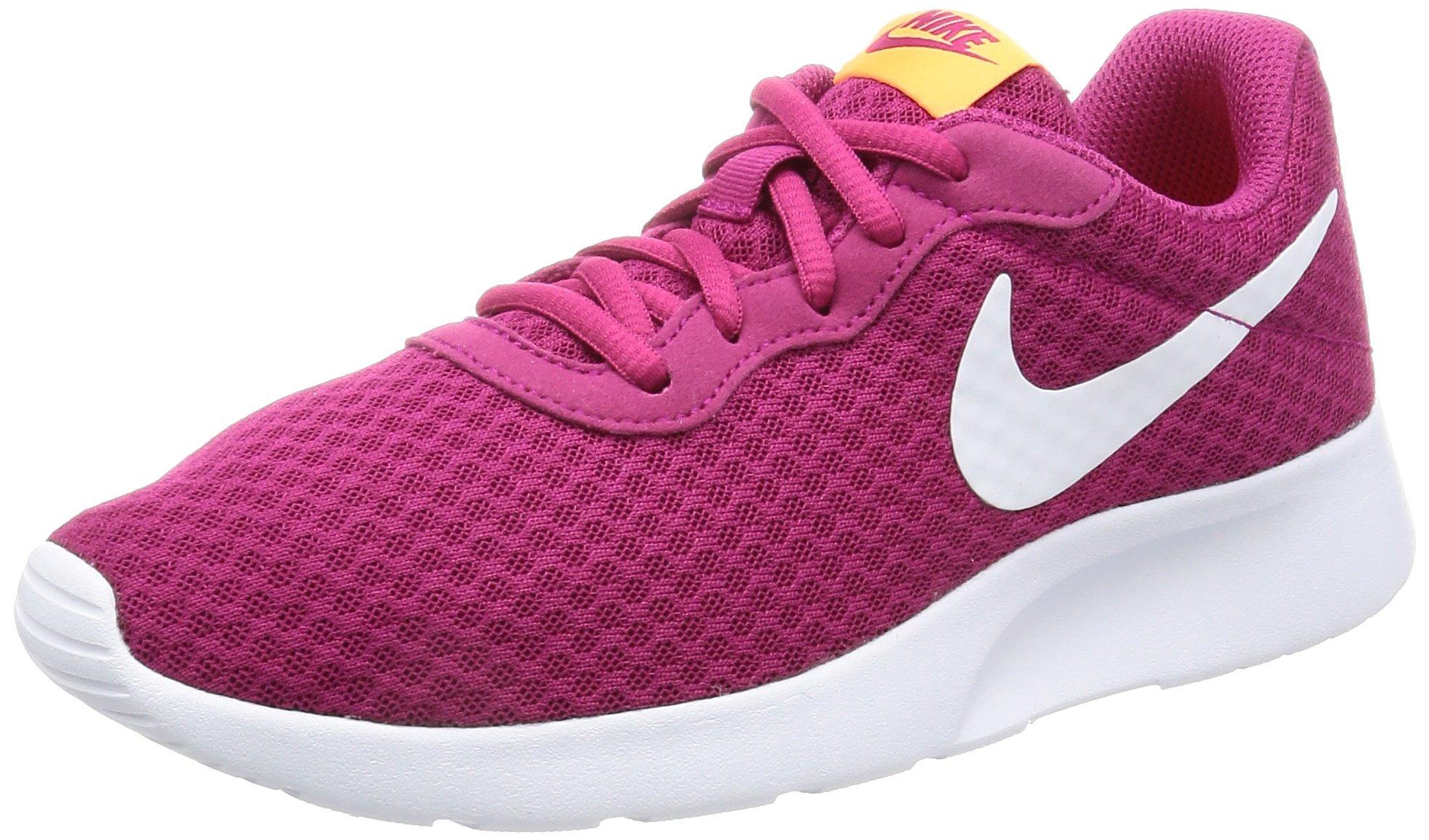 NIKE Women's Tanjun Sport Fuchsia/White Tart Running Shoe 7 Women US