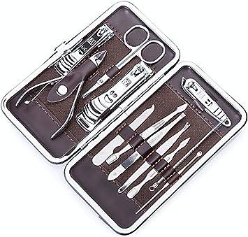 Tech Traders ® - Set unisex de manicura y pedicura 12 en 1, acero inoxidable de gran calidad: Amazon.es: Bricolaje y herramientas