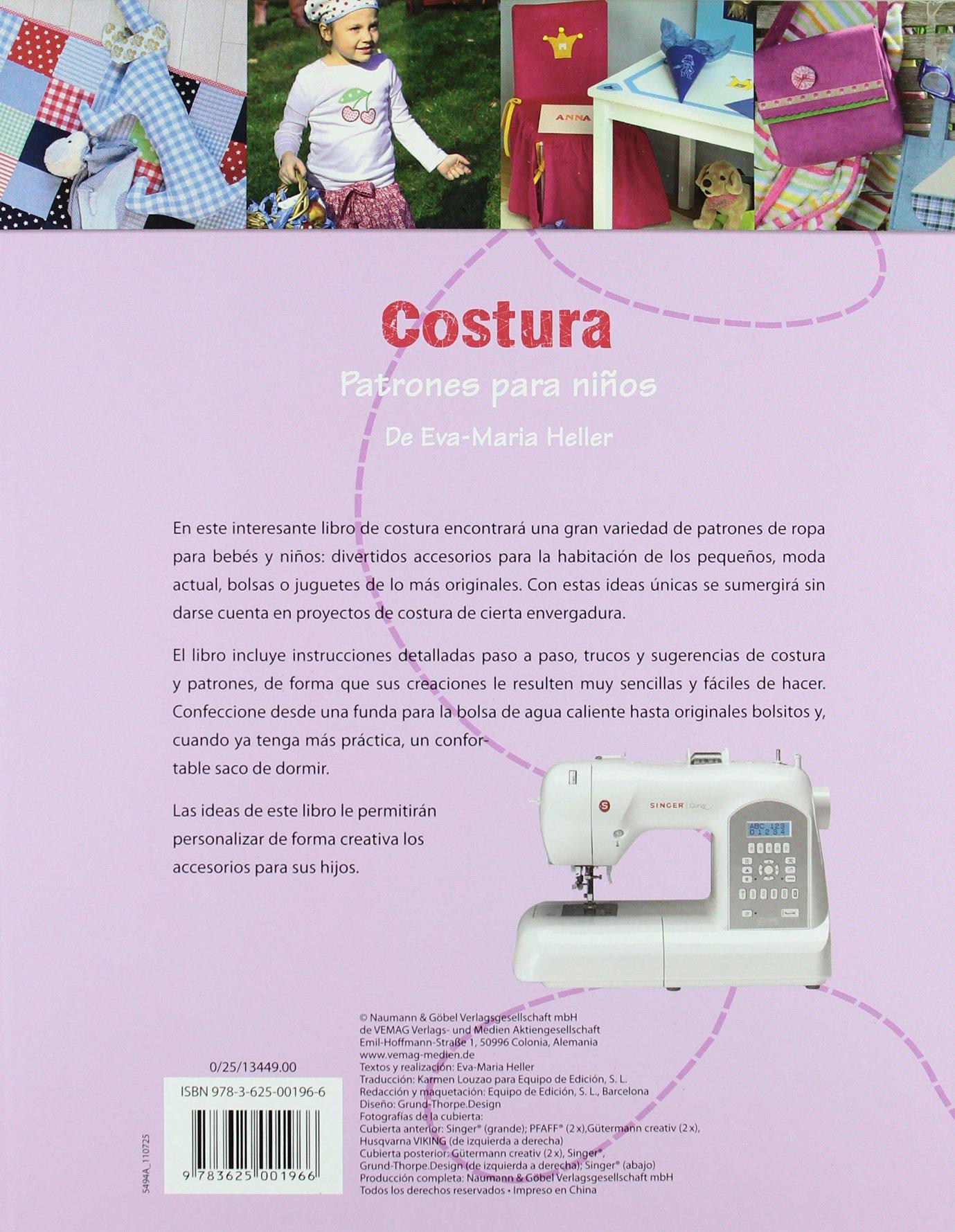 Costura - Patrones Para Niños: Amazon.es: VV.AA.: Libros