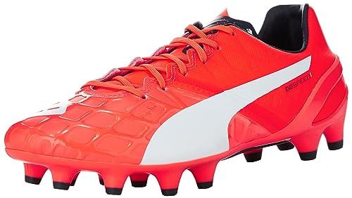 Puma Evospeed 1.4 LTH FG, Chaussures de Football Hommes, Orange (Lava Blast/White/Total Eclipse), 42.5