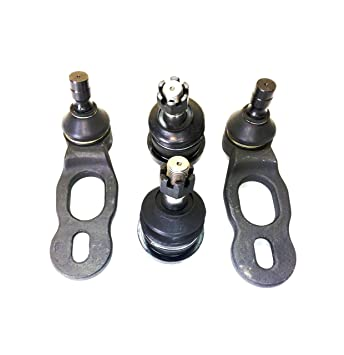 PartsW 4 Pc Suspension Kit for Ford Crown Victoria Mustang Lincoln Town Car  Mercury Grand Marquis Front Upper & Lower Ball Joints
