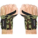 """Wrist Wraps by Rip Toned - 18"""" Professional Grade With Thumb Loops - Wrist Support Braces for Men & Women - Weight Lifting, Xfit, Powerlifting, Strength Training - Bonus Ebook"""