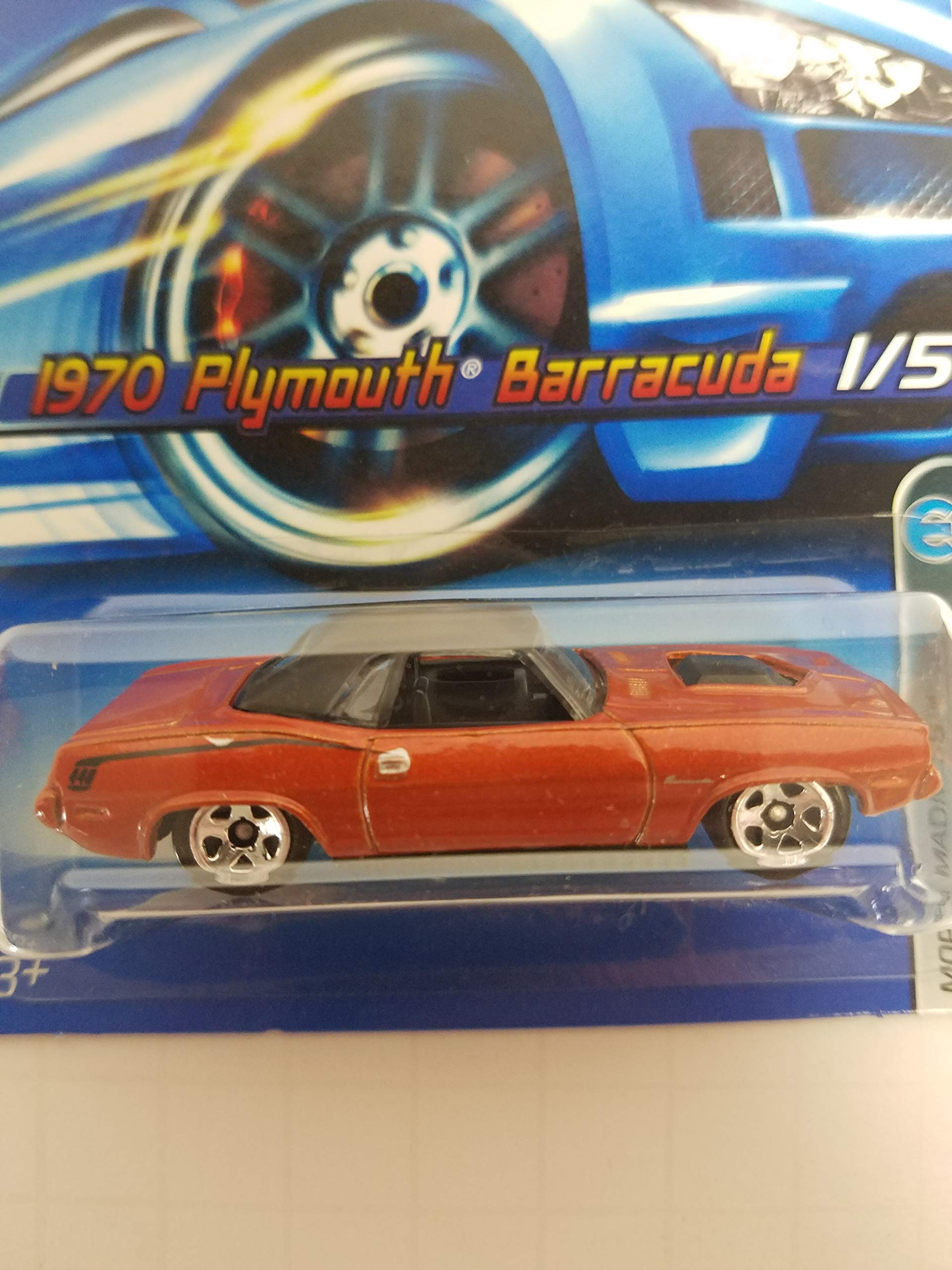 1970 Plymouth Barracuda Mopar Madness 1/5 No. 061 Burnt Orange Color Hot Wheels 2006 1/64 scale diecast car