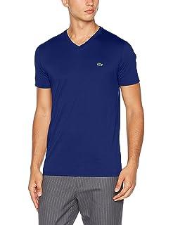ddce9b2230fb Lacoste Mens SS V-Neck Pima Cotton T Shirt TH6710  Amazon.co.uk ...