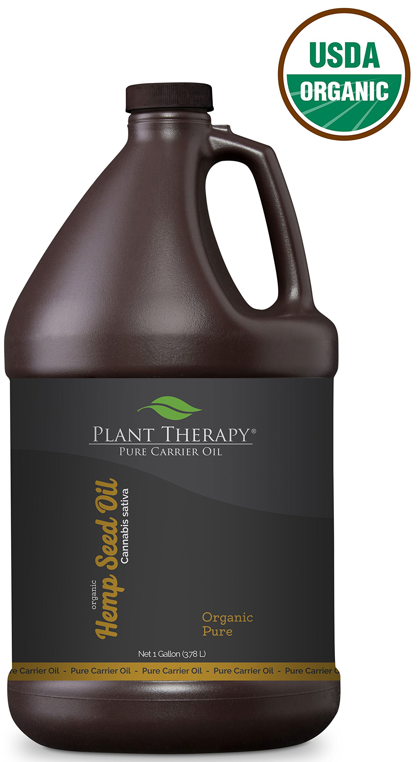 Plant Therapy Organic Hemp Seed Carrier Oil. A base for Aromatherapy, Essential Oils, or Massage Use. 1 gal.