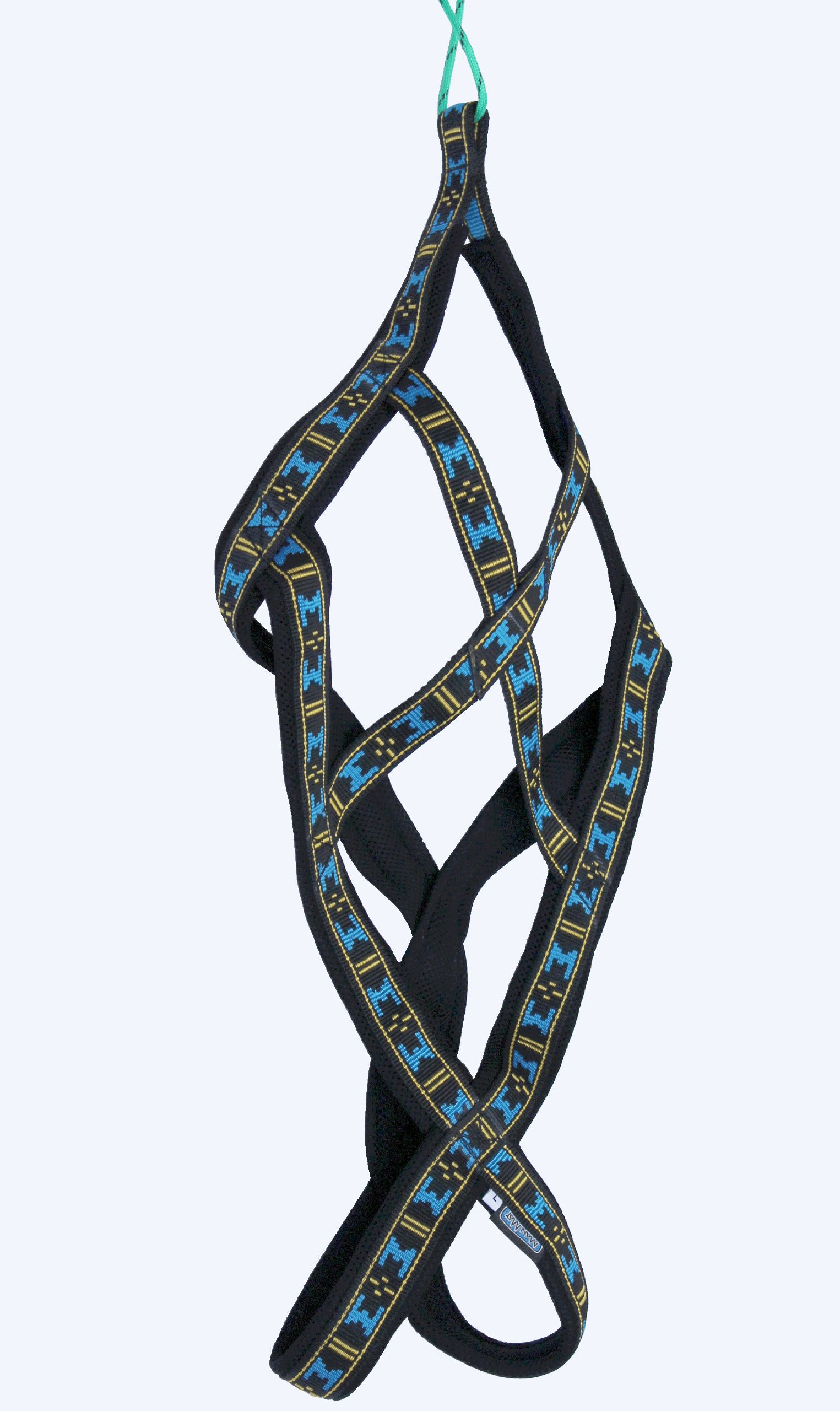 Weight Pulling Sledding Dog Harness X-Back Style Black/Blue XLarge, 22.5'' Neck Circumference. by Dogs My Love