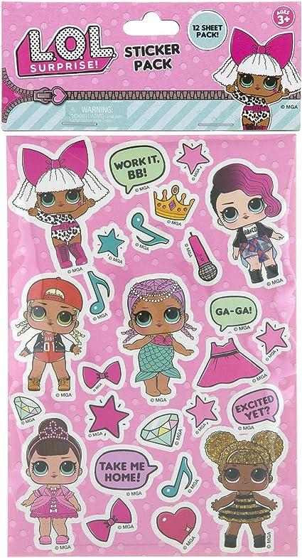 Amazon Com L O L Surprise Dolls In Sticker Form Toys Games