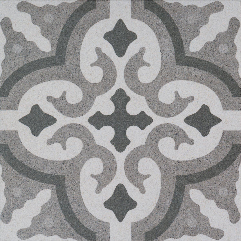 Diese Bodenfliesen Vintage Decor Mix grau matt im Format 25x25cm aus Feinsteinzeug eignen sich auch als Wandfliesen und zaubern in jeden Raum ein modernes Ambiente zum Wohlf/ühlen 1m2