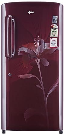 LG 215 L 2 Star Direct Cool Single Door Refrigerator(GL-B221ASLV.DSLZEBN, Scarlet lily)