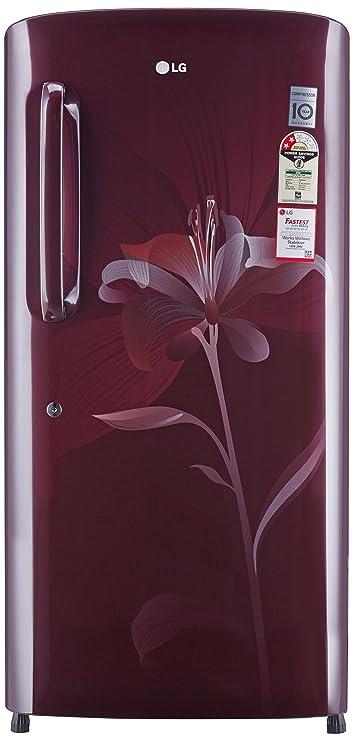 LG 215 L 2 Star   2019   Direct Cool Single Door Refrigerator GL B221ASLV.DSLZEBN, Scarlet lily  Refrigerators