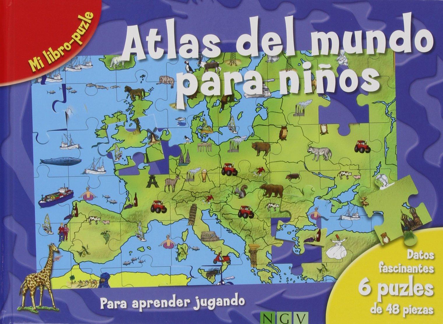 Atlas Del Mundo Para Niños: Amazon.es: VV. AA.: Libros