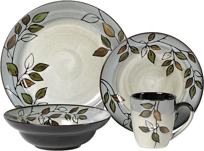 Pfaltzgraff 5136396 Rustic Leaves Dinnerware Set, Assorted