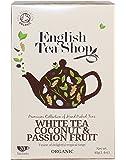 English Tea Shop White Tea Coconut & Passion Fruit Organic/Té Bianco al Cocco e Frutto della Passione Biologico - 1 x 20 Sachets (40 Gram)
