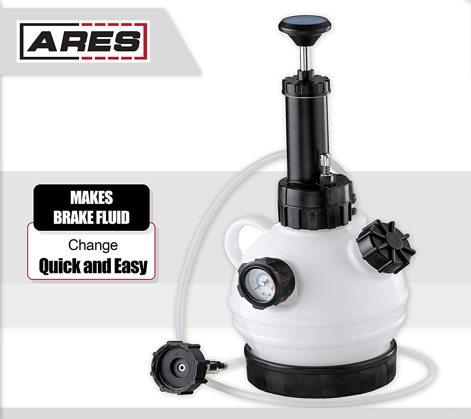 Brake Bleeder 2L Large-Capacity Oil Pump, 1L Rehydration Bottle Fluid Extractor-Vacuum Brake Air Nozzle Air Brake Air Nozzle Kit Compatible with Most Standard Braking Systems and ABS Braking Systems RYANSTAR RACING Brake Bleeder Kit
