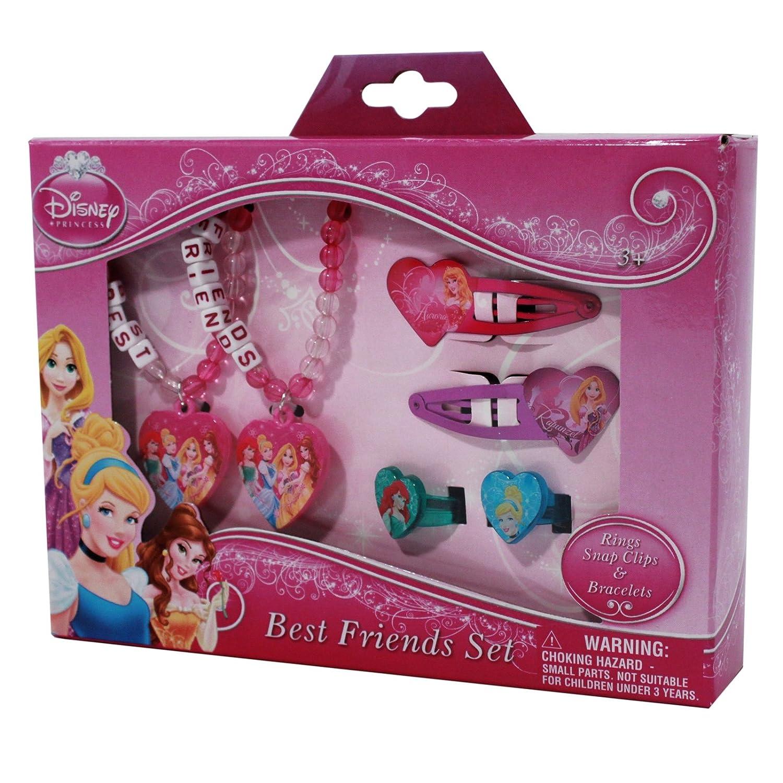 Amazon.com: Disney Princess Best Friends Set Rings Hair Snap Clips ...
