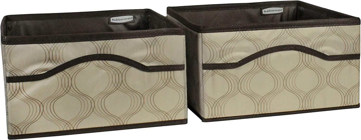 2-Pack Rubbermaid HomeFree Closet System Canvas Basket Small Beige