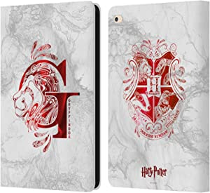 Head Case Designs Officially Licensed Harry Potter Gryffindor Aguamenti Deathly Hallows IX Leather Book Wallet Case Cover Compatible with Apple iPad Air 2 (2014)