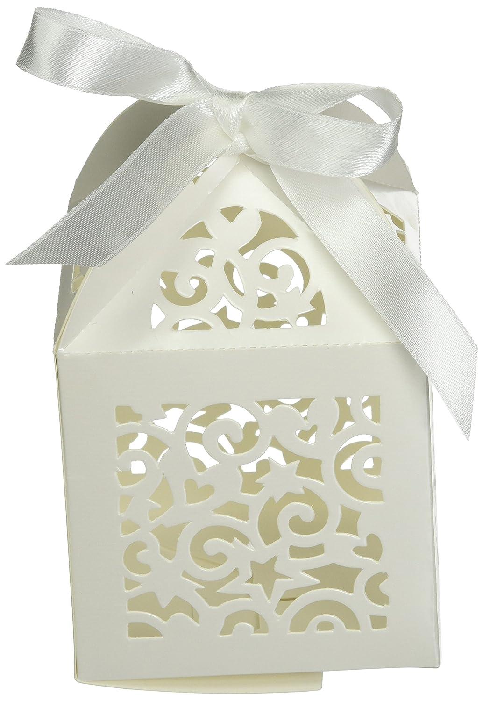 Amazon.com: DARICE DT1404-29 David Tutera Laser Cut Favor Box with ...