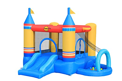 Castillo inflable 4 actividades en 1 - 9514 HAPPY HOP: Amazon.es ...