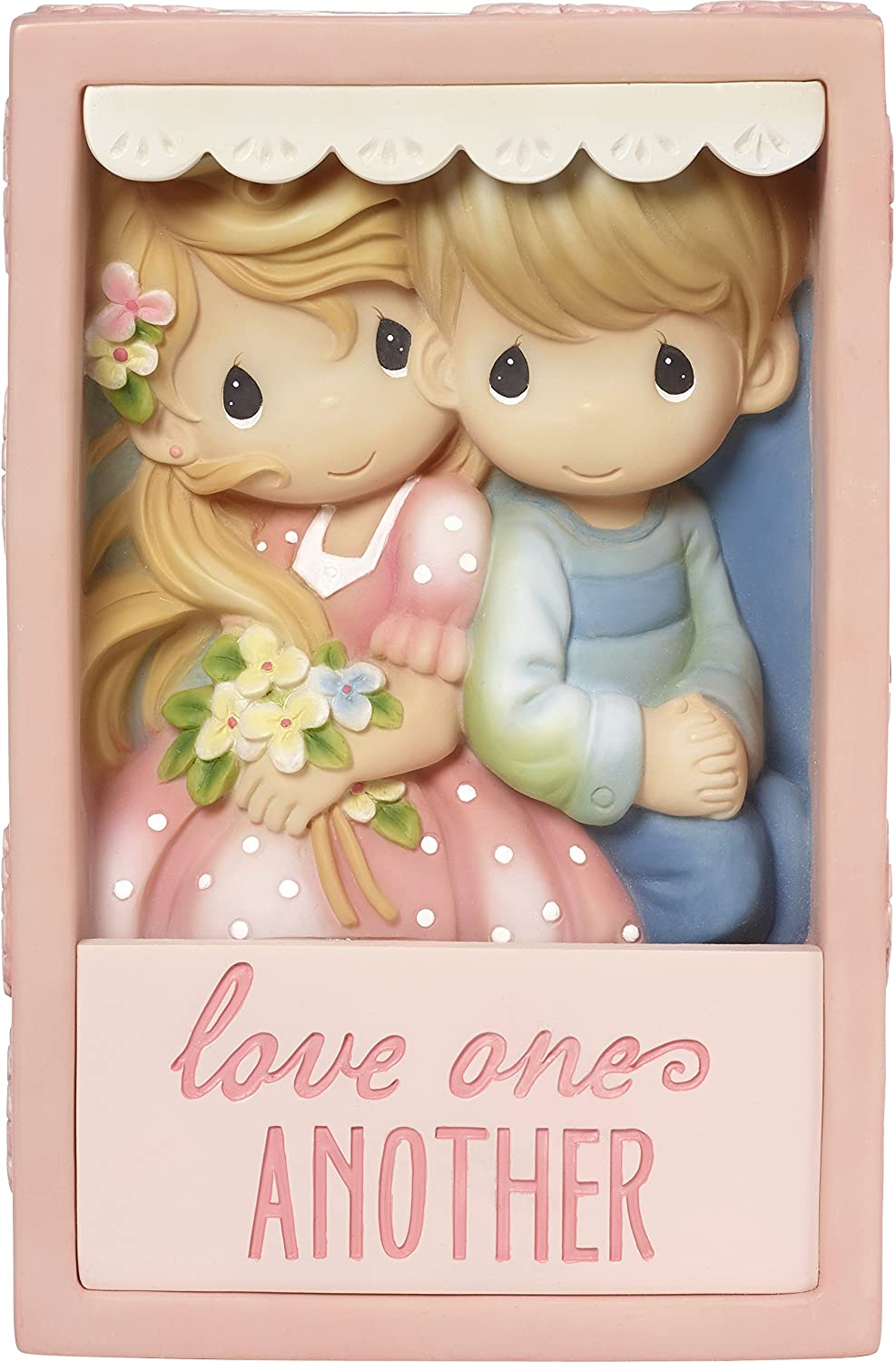 Precious Moments Couple Love One Another Resin Shadow Wall or Destop Box Home Decor 173443