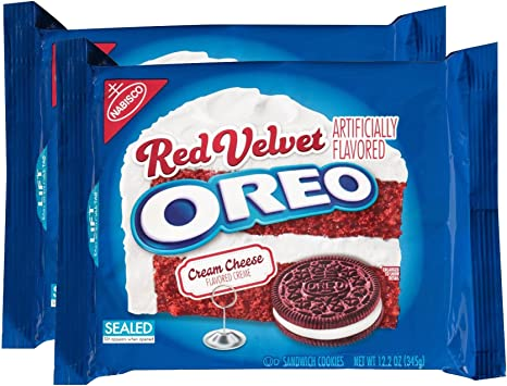 Oreo Red Velvet Sandwich Cookies (10.7-Ounce Packages, 2-Pack ...