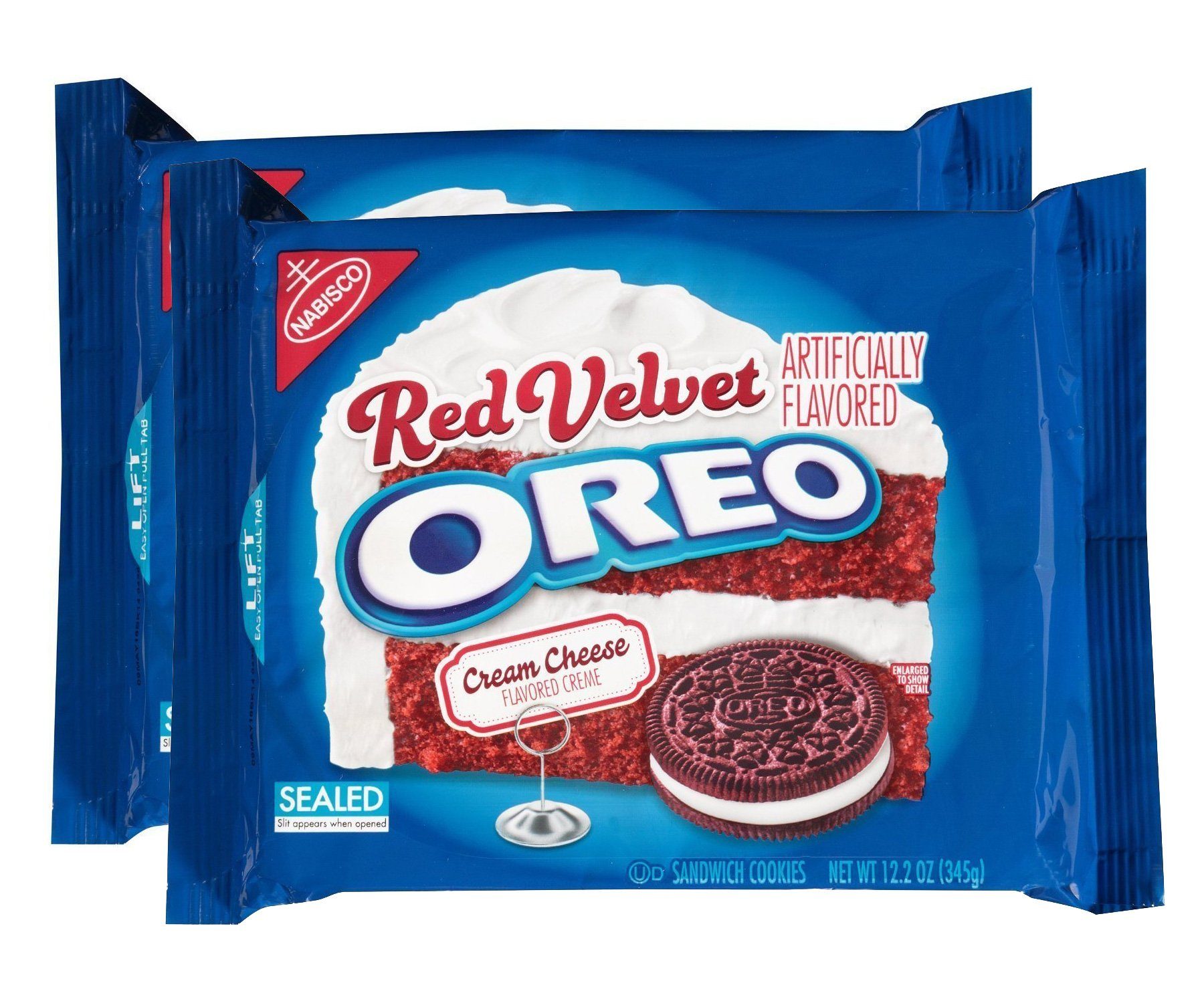 Oreo Red Velvet Sandwich Cookies (10.7-Ounce Packages, 2-Pack) by Oreo
