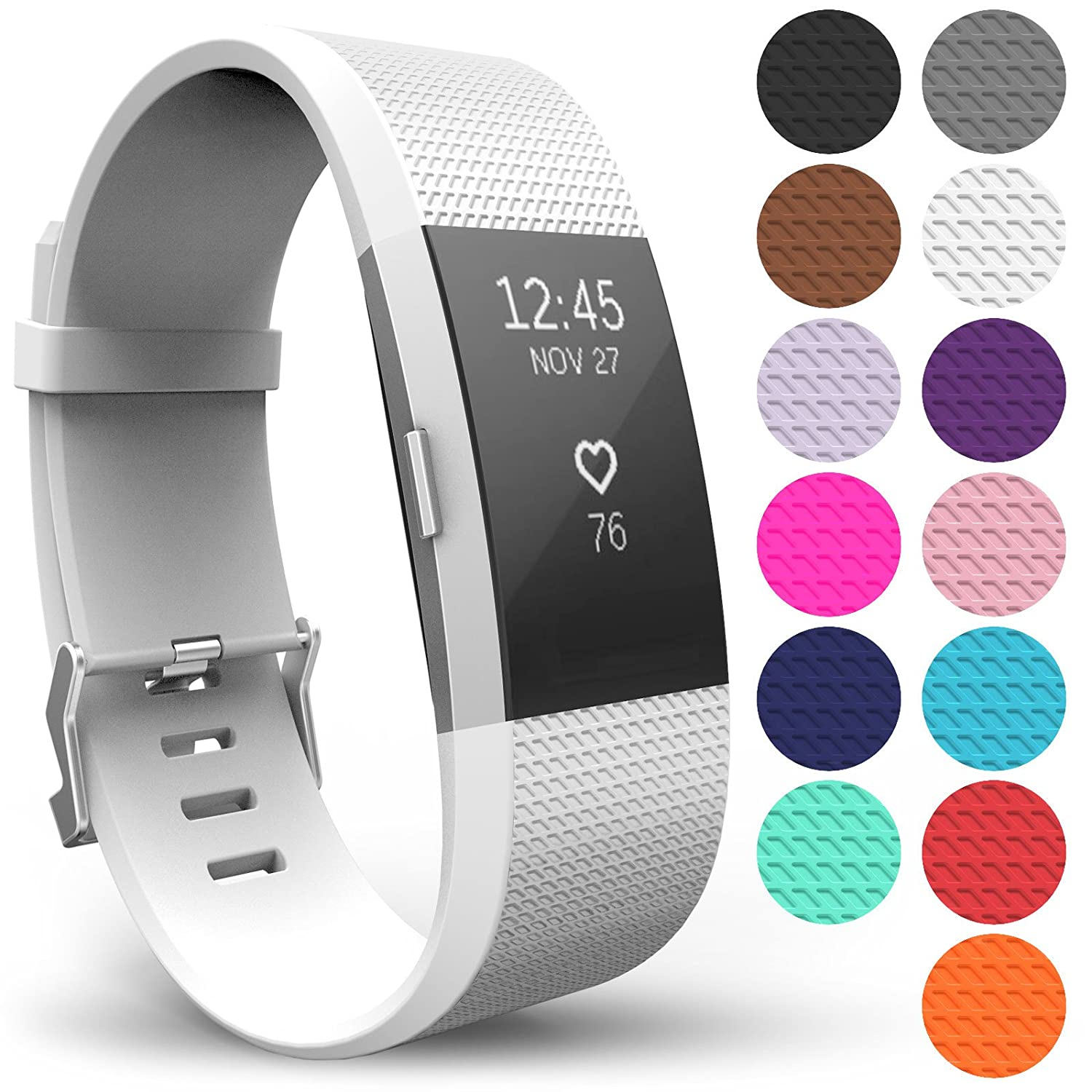 Available in 14 Colours Yousave Accessories/Fitbit Charge 2 Bands,/Replacement Silicone Sport Wristband The Fitbit Charge 2