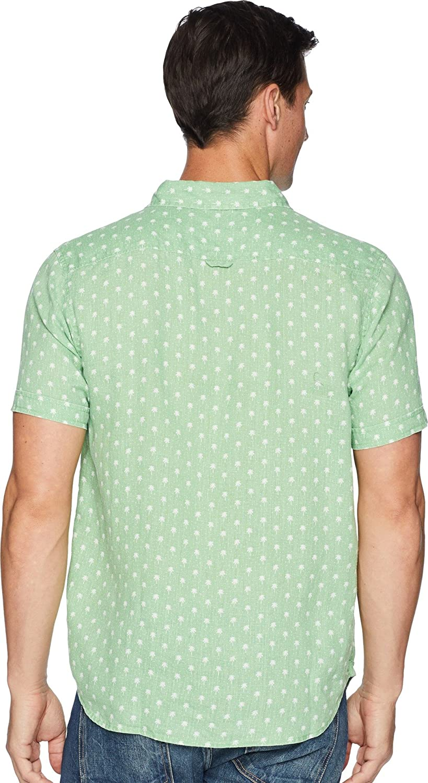 True Grit Mens Avalon Palms Lux Linen Shirt At Amazon Clothing Store