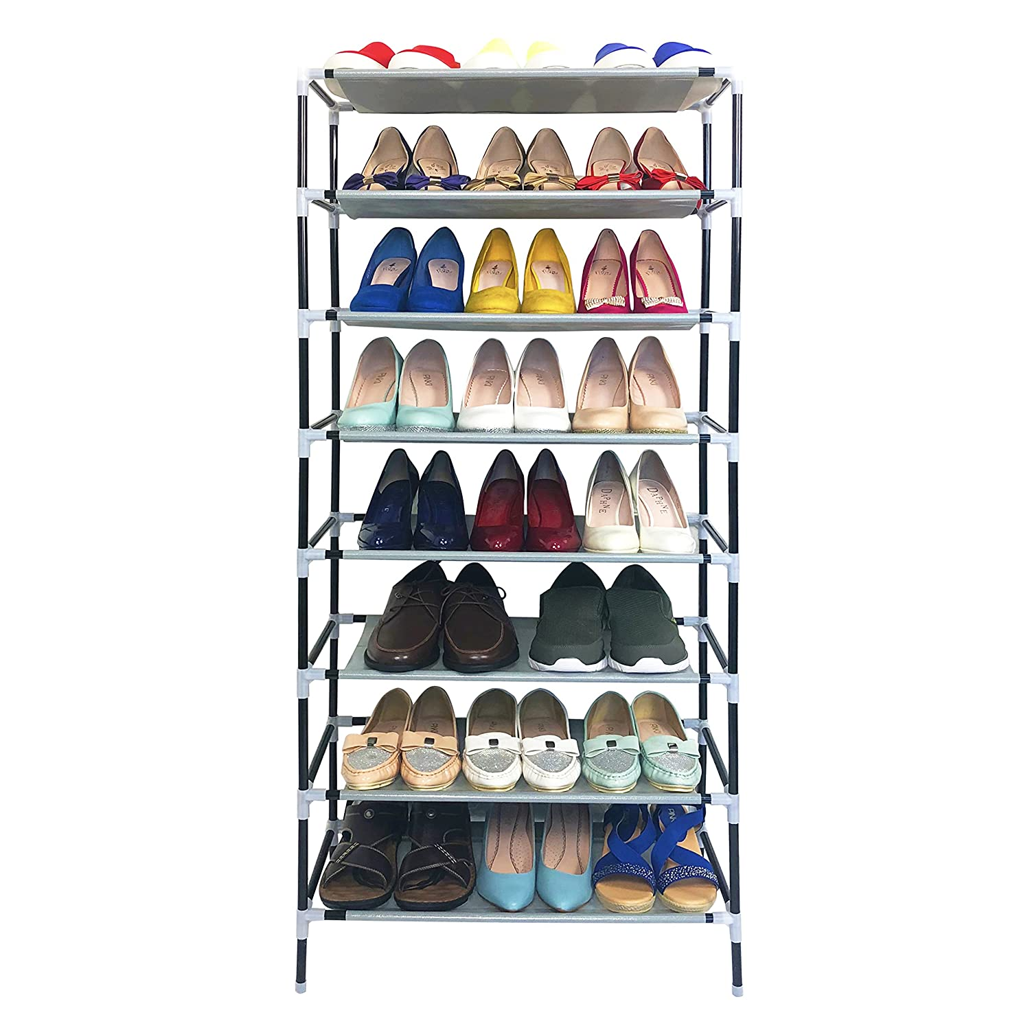 AcornFort® S-109 4 Tiers Adjustable Shoe Storage Shoe Rack Organiser Shelf Hold Stand for 12 Pairs , Space Saving , Easy Assemble YOYO INFO UK LTD