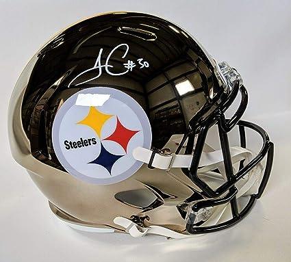 615d71fb251 Signed James Conner Helmet - CHROME SPEED REPLICA F S w BECKETT COA - Beckett  Authentication -