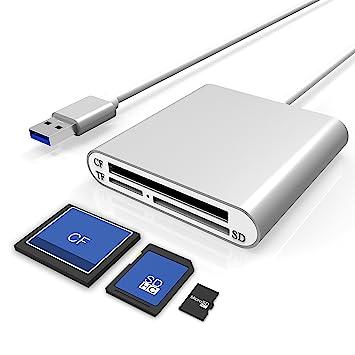 Cateck Lector de Tarjetas SD de Aluminio Ultra-rápido USB 3.0 ...