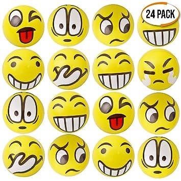 24pcs Pelota Anti Estrés | Bolas Divertidas De Emoji Squeeze | Pequeños Juguetes Fidget | Piñata Rellenos Bolsos Para Fiestas, Cumpleaños Niños Juegos ...