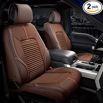 Seat Covers For Trucks >> Front Sport Series Seat Covers 1st Row Interior Seat Cover Fit To Most Car Truck Suv Brown