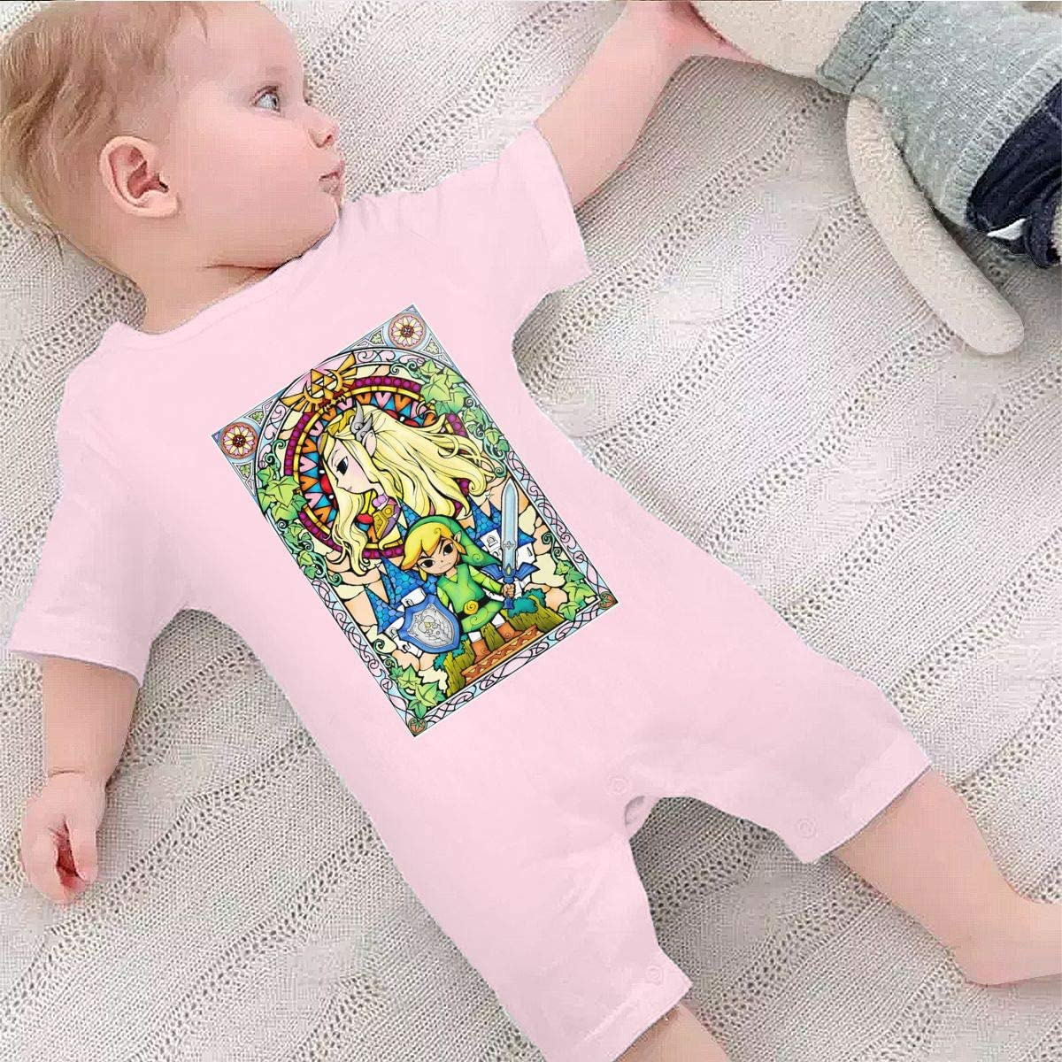 Hey May Baby Boys Girls Shorts Sleeve Romper The Legend of Zelda Outfit Creepers Bodysuit Clothes Jumpsuit